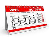 Calendar October 2016.