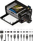 LaserJet Printer & Cables