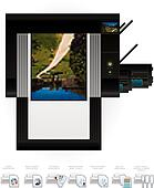 LaserJet Printer Top View