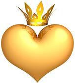Royal Love abstract. King heart