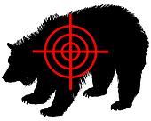 Grizzly bear crosshair