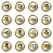Electrical Appliances Gold Icons Se
