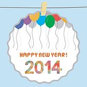 Happy new year 2014 card12