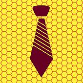 tie icon flat design with abstract background