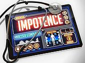 Impotence on the Display of Medical Tablet.
