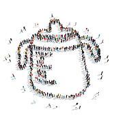 people  shape  children's feeding cup