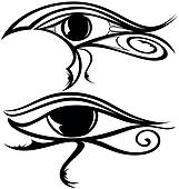 Egyptian Eye Ra Silhouette