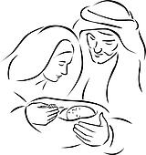 Holy Family Clip Art - Royalty Free - GoGraph