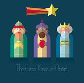The three Kings of Orient wisemen