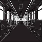 Inside Of Metro Train Wagon