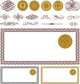 Vector Blank Certificate Set