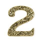 gold font - number 2
