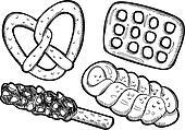 set of pretzel doodle