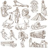 South America travel - An hand drawn pack