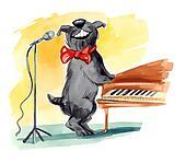 shaggy dog singing