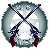 US Marshal Guns and Badge