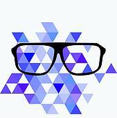 Nerd glasses on grey background