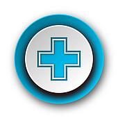 pharmacy blue modern web icon on white background