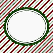 Green, Red and White Striped Candy Cane Striped Background