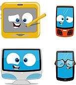 Cartoon electronic devices