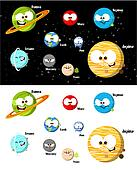 Cartoon Planets