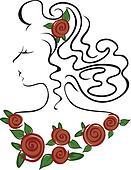 girl in the roses