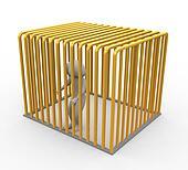 Prisoner in golden jail