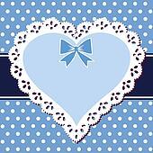 Lace blue heart