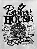 Poster Burger House coal