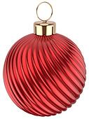 Christmas ball Happy New Year bauble red decoration sphere