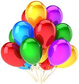 Multicolor party balloons bunch