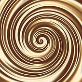 Chocolate or coffee milk cocktail spiral texture