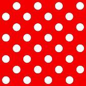 White Polka Dot on red background