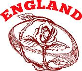england rugby ball rose flower