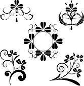 set of the floral design