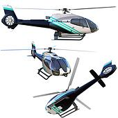 3d helicopter collection