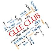 Glee Club Word Cloud Concept Angled