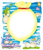 Easter egg-colored duck,