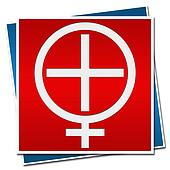 Womens Health Sign Red Blue
