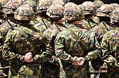 Solders in camouflage