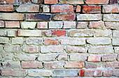 Standard brick wall, orange color, good for old background