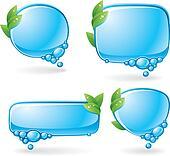 Eco speech bubble set