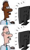 Businessman at a Monitor