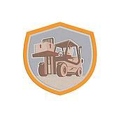 MetallicForklift Truck Materials Handling Logistics Shield