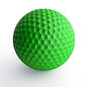 Green golf ball