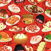 seamless chinese food pattern