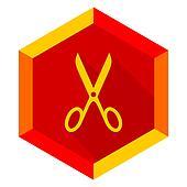 scissors flat design modern icon