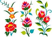 flower border graphic set