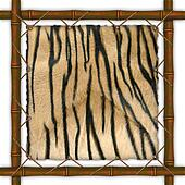 Frame from a bamboo with a skin of a tiger