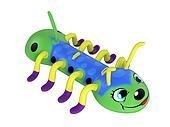Inflatable centipede toy